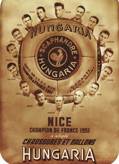 L'OGC Nice champion de France 1951 avec Hungaria