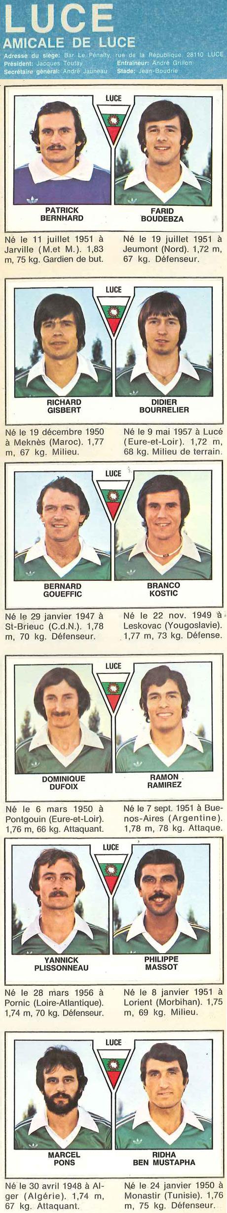 Amicale de Lucé 1979/1980